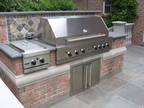 Bbq outdoor kitchen built in grill fireplace design ideas for Built in barbecue grill ideas