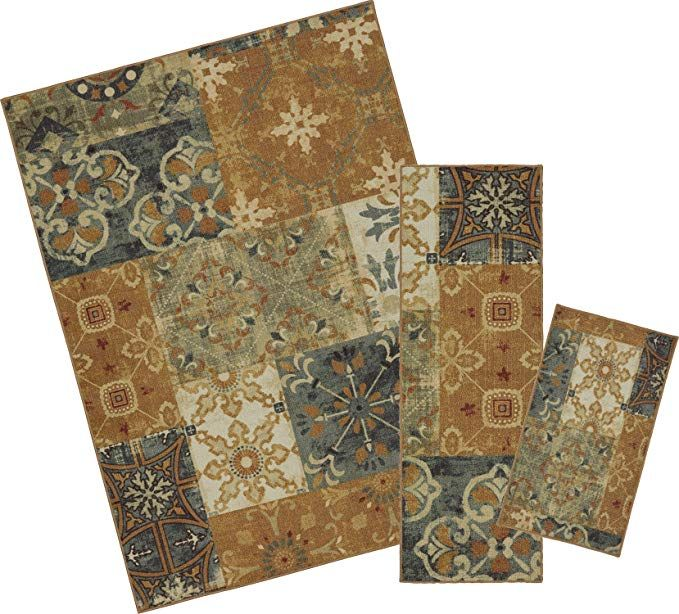 Mohawk Home Soho Harmonic Patch Multi Rug Set Contains 18 X 30 20 60 And 84