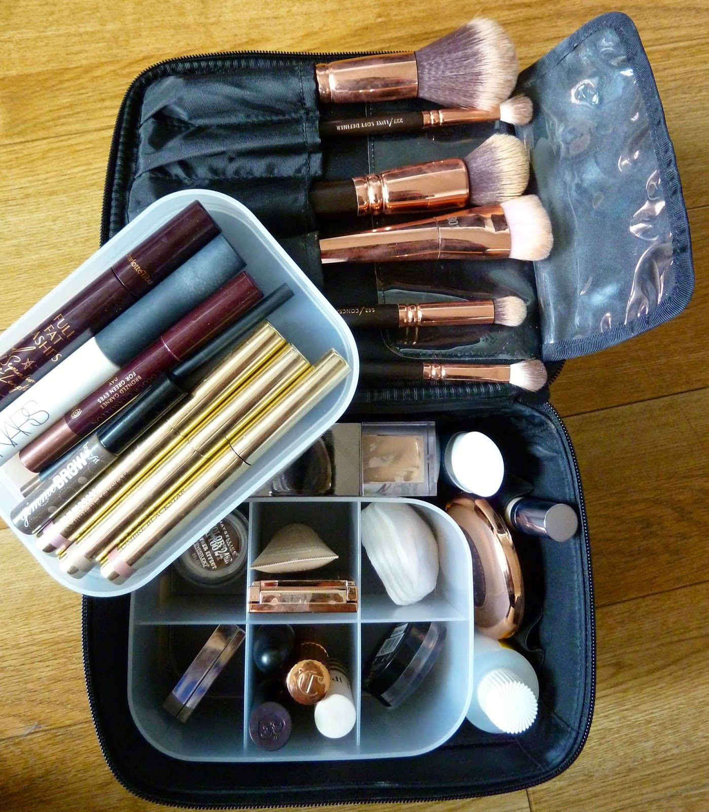 My travel makeup bag The Muji Vanity make up box Makeup