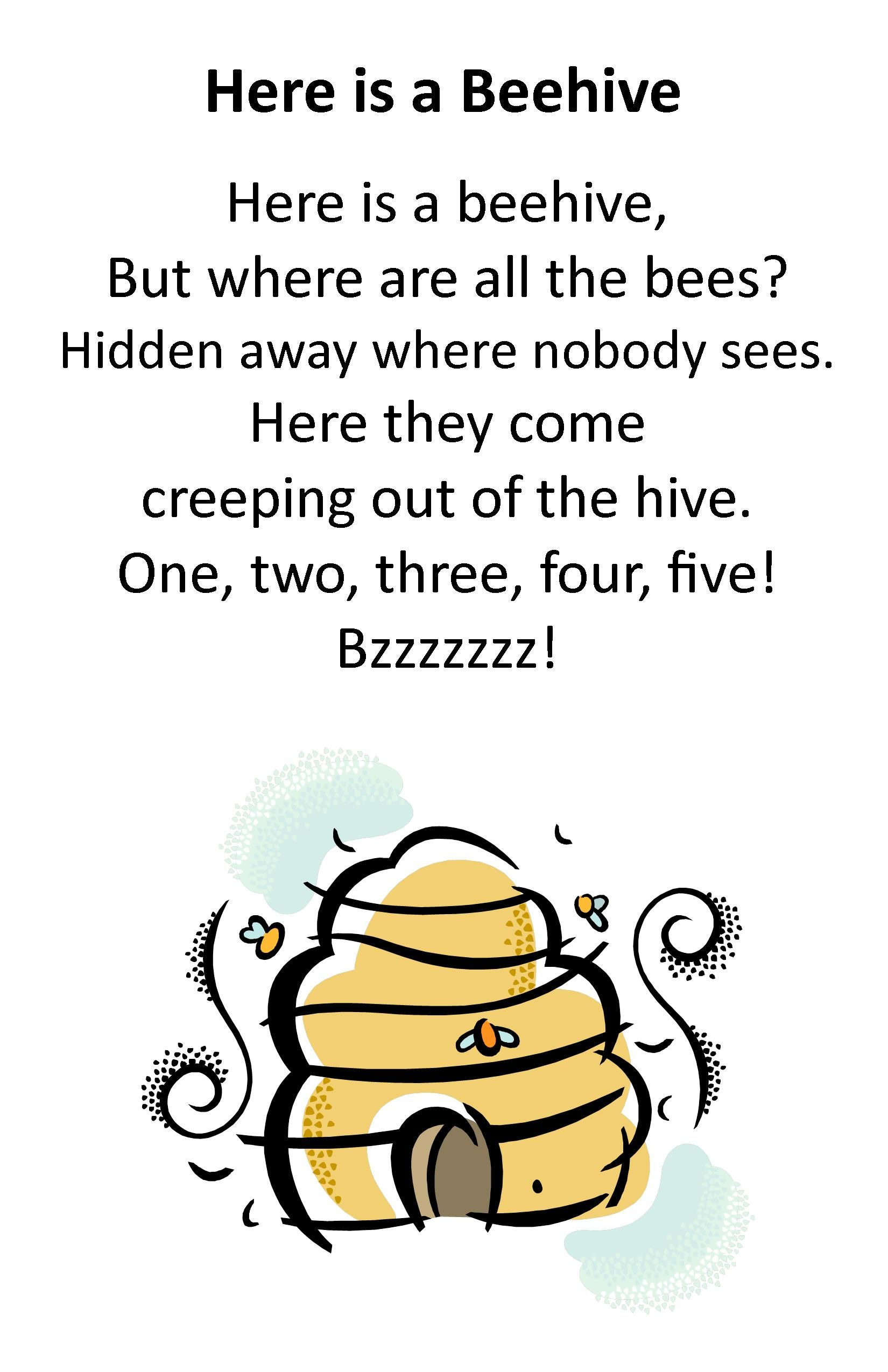 Itty Bitty Rhyme: Here is a Beehive | Itty Bitty ...