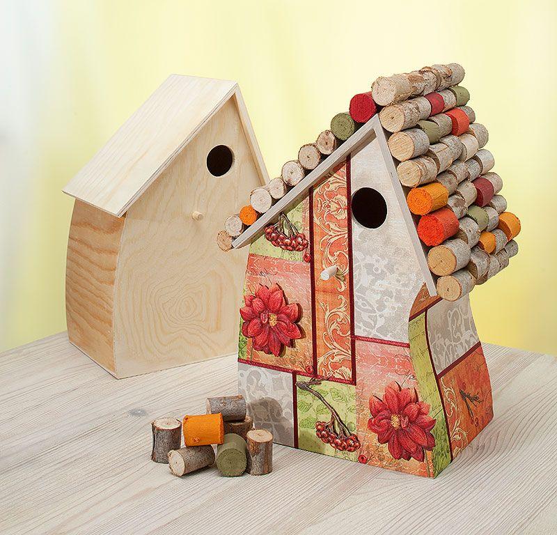 vogelhaus herbst schmuckbild basteln pinterest vogelh user bastelanleitungen und. Black Bedroom Furniture Sets. Home Design Ideas