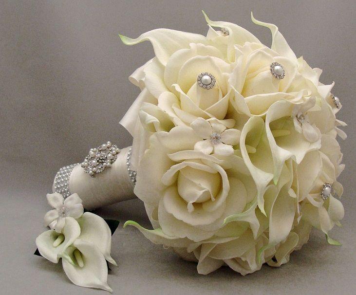 Wedding Bouquets Silk Flowers: Bridal Bouquet Design Silk White ...