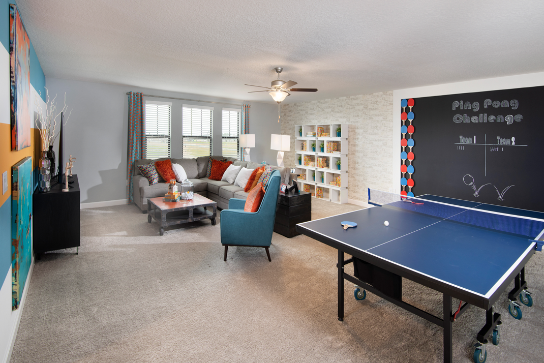 Decorating A Loft Can Be Fun Would You Like A Game Room With A Ping Pong Table Like This One Game Room Basement Bonus Room Design Game Room