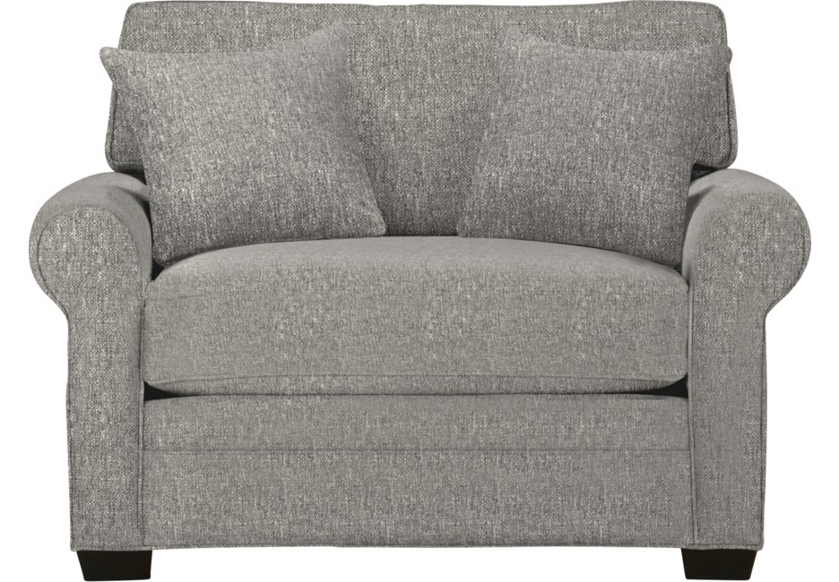 Cindy Crawford Home Bellingham Gray Textured Chair Cindy
