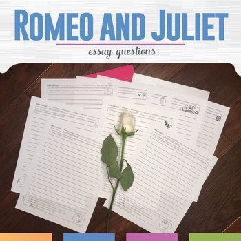 Romeo And Juliet Writing And Essay Prompts  Ela Literature  Get Students Analyzing And Thinking About Romeo And Juliet With This  Indepth Questions Romeoandjuliet Essayquestions Languageartsclassroom