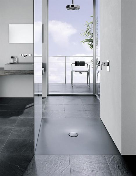 Shower Stall From Bette Is Flush To The Floor Large Shower Trays
