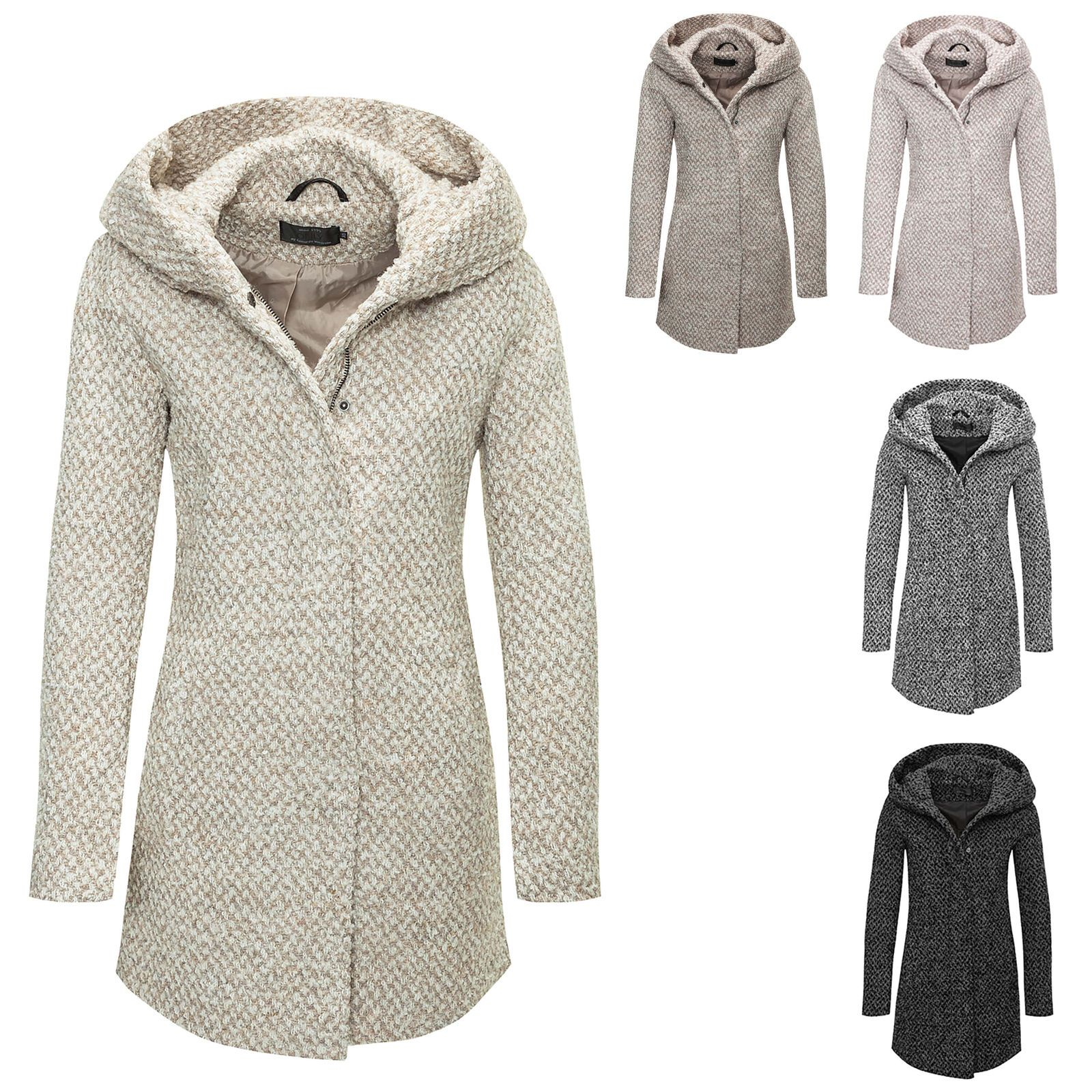985f15f55af3ac Only Damen Wollmantel Kurzmantel Übergangs & Winter Mantel Winterjacke  Parka NEU in Kleidung & Accessoires,