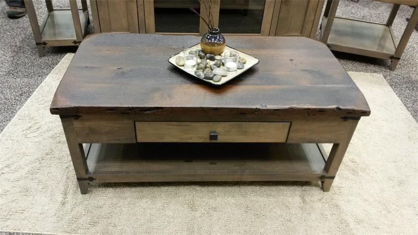 Amish manhattan rustica coffee table amish furniture