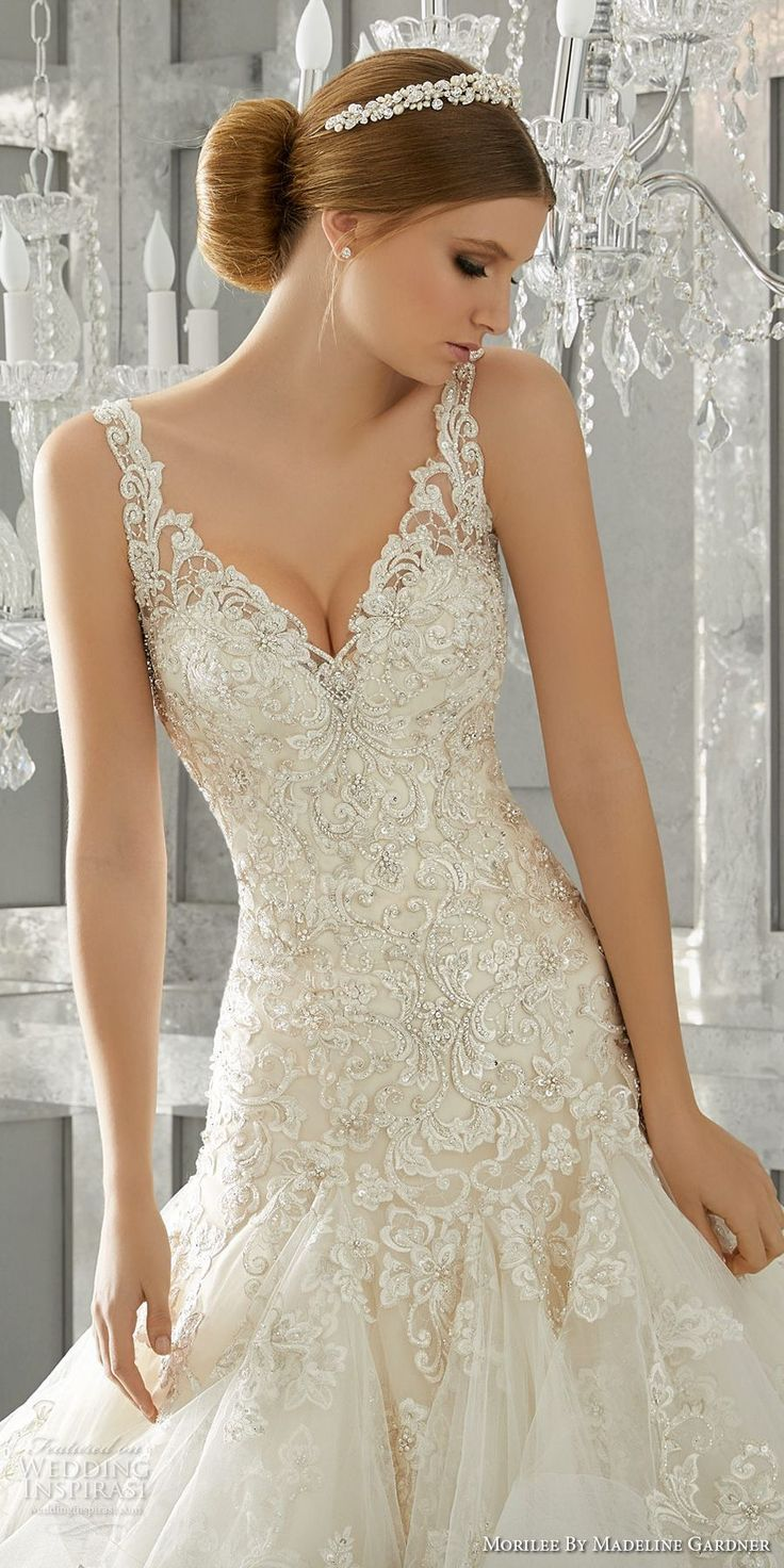 Anna campbell custom bridal gown and gowns are classic