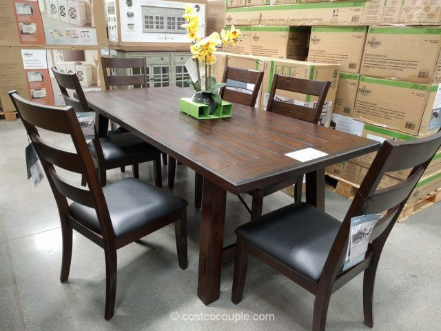 Bayside Furnishings 9 Piece Dining Set Costco Bayside Furnishings Dining Room Furniture Dining Room Sets