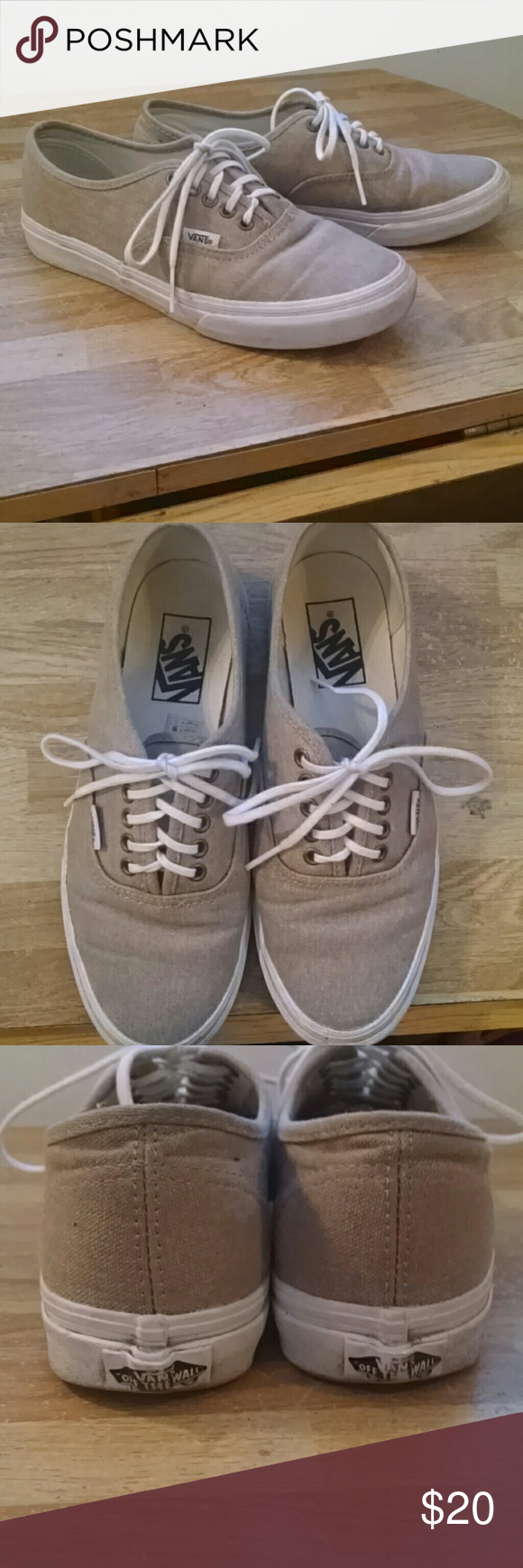98e336eb79 Vans Canvas Shoe Gently worn. Ton of love left. Size 8 women s or 6.5 men s.  Vans Shoes Sneakers