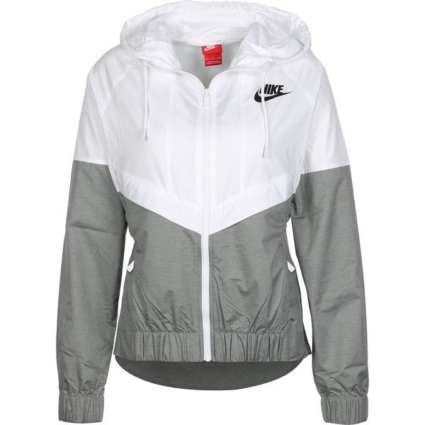 7d3a8f2e27 Nike W Windbreaker weiß grau ( 82) ❤ liked on Polyvore featuring  activewear