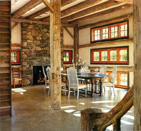Barn Conversion Love The Mix Of Materials Wood, Stone, Concrete....  Ideas For One Day....