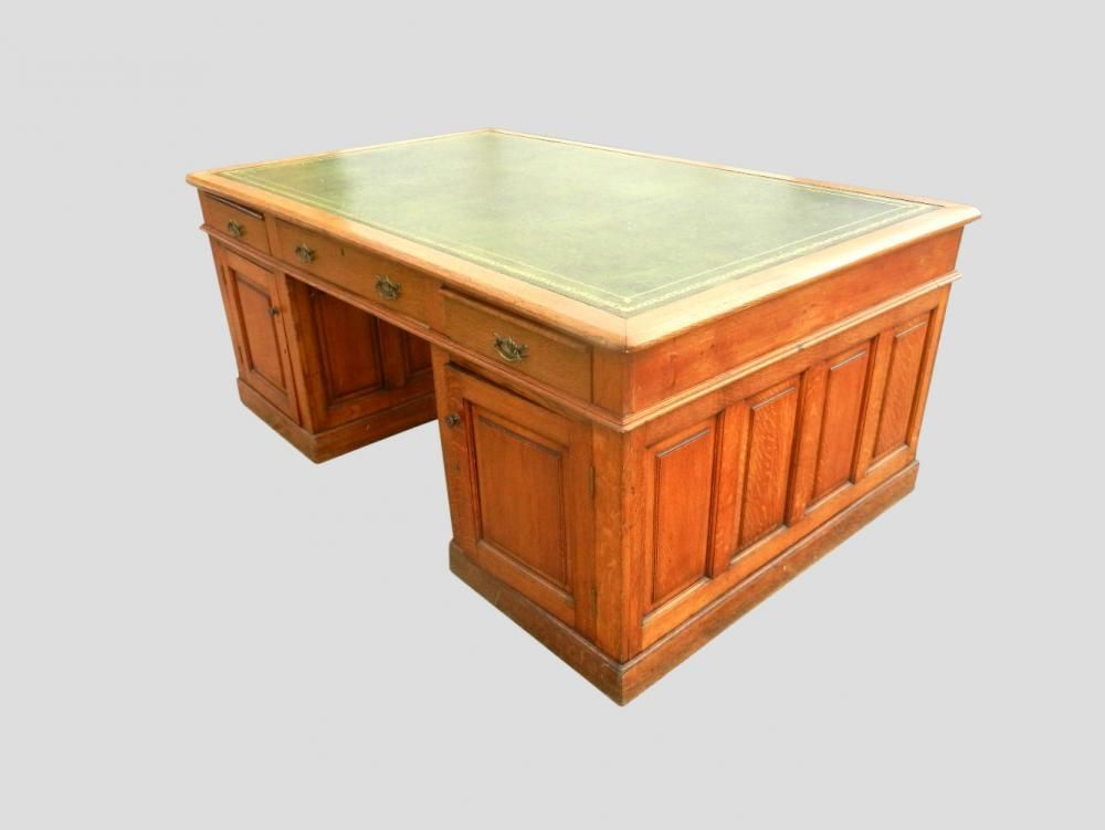 7ft Hugely Impressive Victorian Oak Antique Partners Desk - 7ft Hugely Impressive Victorian Oak Antique Partners Desk