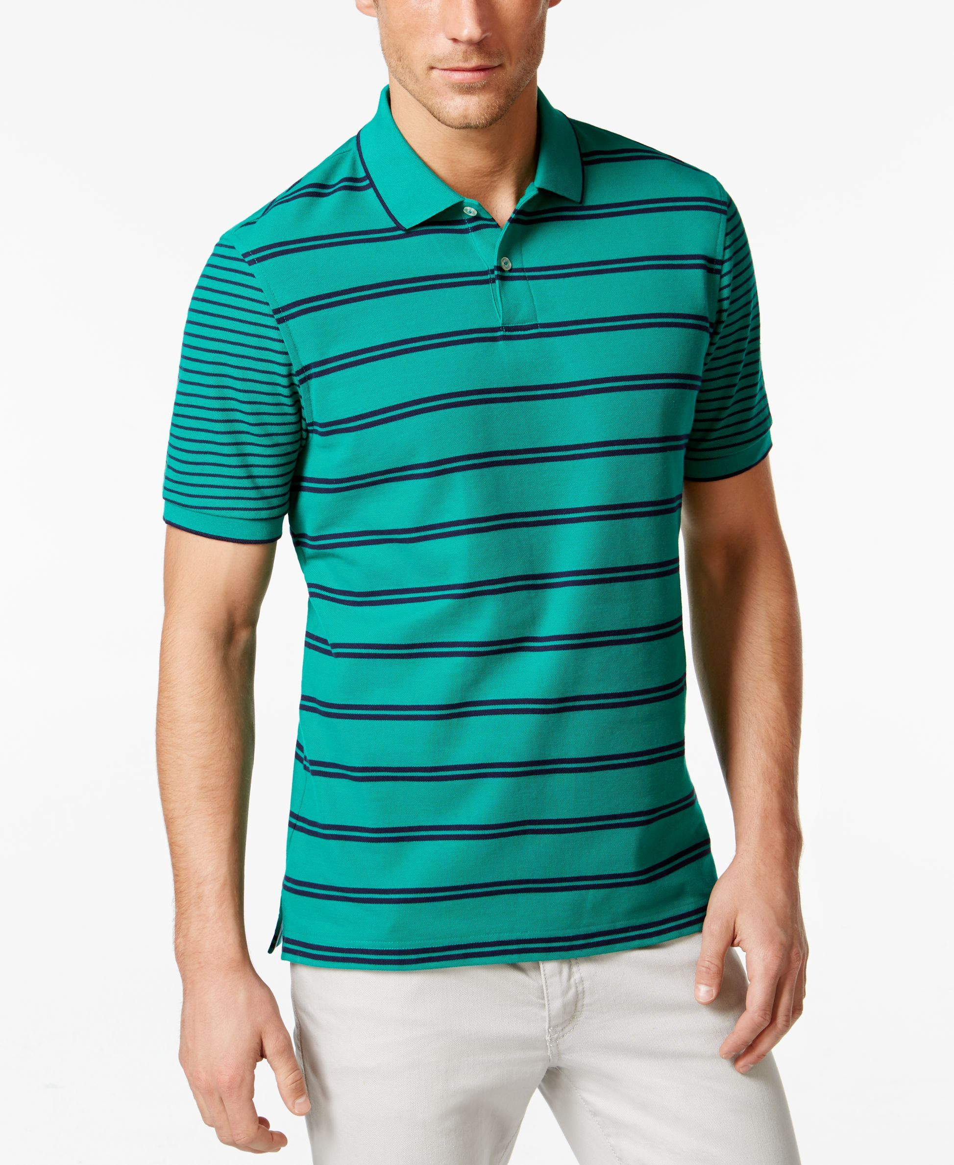 Club Room Short-Sleeve Bartlett Stripe Polo, Only at Macy's