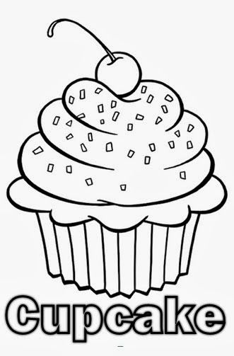 find this pin and more on risco de cupcake e sorvete cute birthday cupcake coloring pages