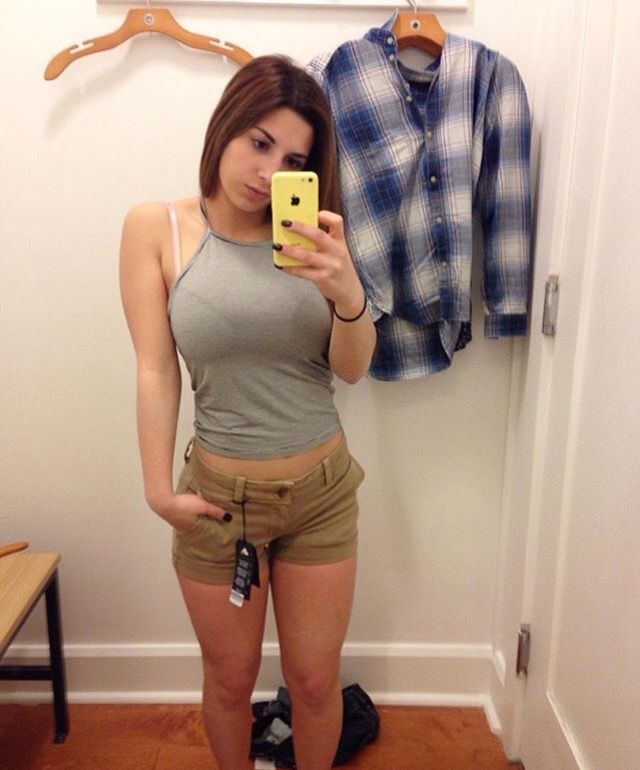 Sexy nude girls in changing room