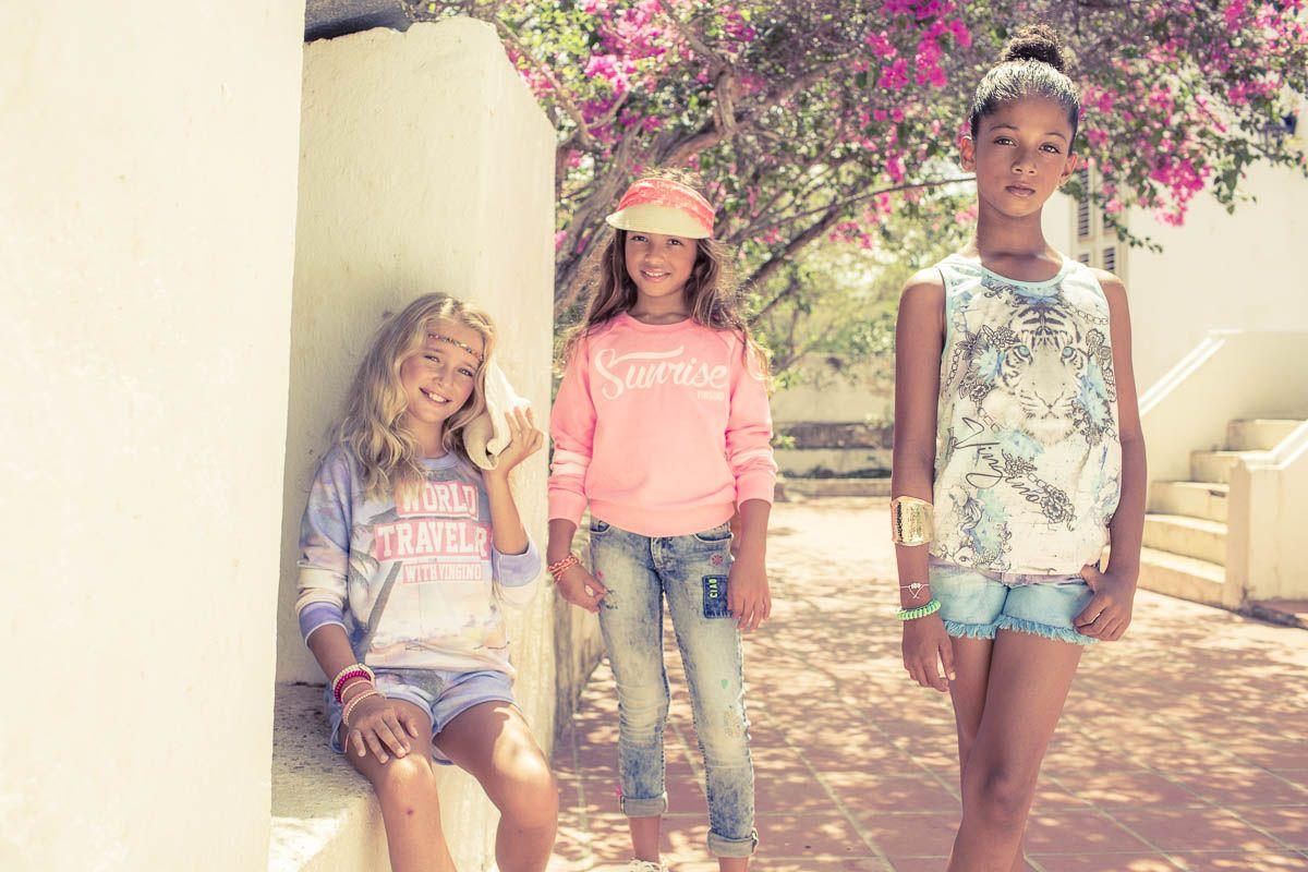 From Left to Right: Sweat Short: Solvi. Sweater: Neomi I Sweater: Nouraya I Denim Short: Doppia. Singlet: Helia.