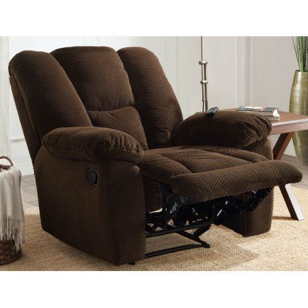 serta big tall memory foam massage recliner with usb charging chocolate brown