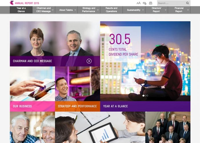 Telstra Annual Report 2015 | CSS Website