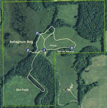 Saul Lake Bog Nature Preserve map