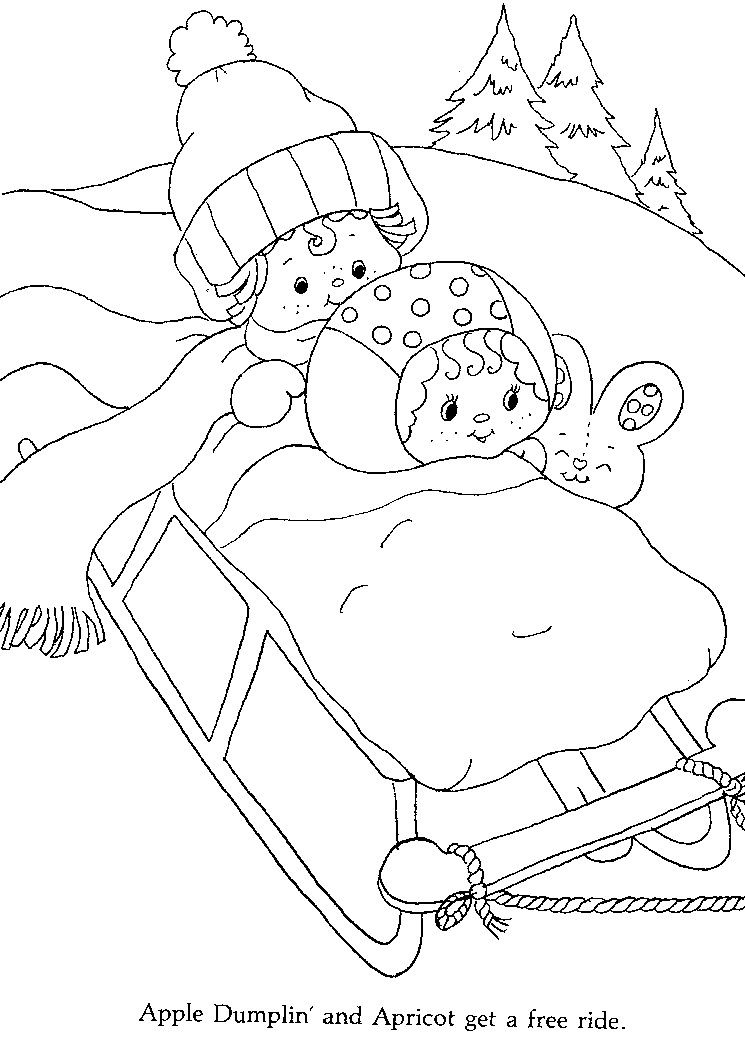 p4.jpg (745×1039) | Strawberry Shortcake Coloring Book | Pinterest ...