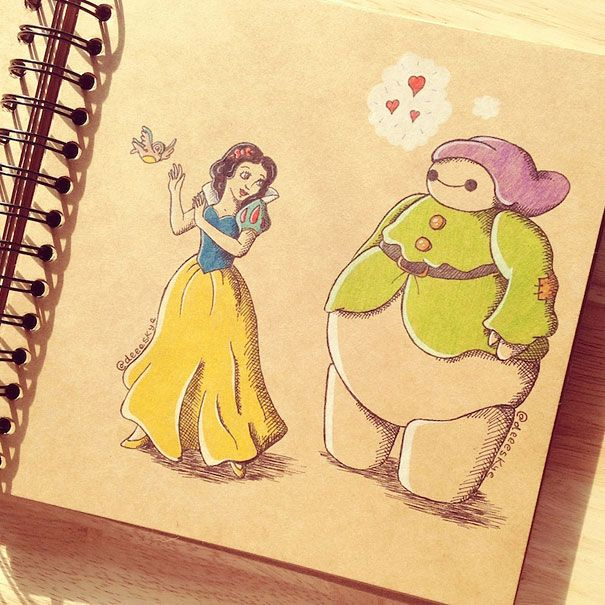 Disneycosplaybigherobaymaxdemetriaskye Favorites With - Baymax imagined famous disney characters