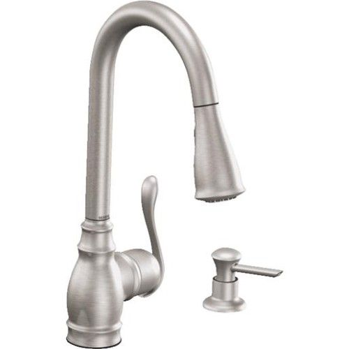 Moen Ca87003srs Anabelle Single Handle Kitchen Faucet Stainless