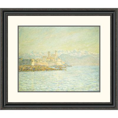 "Global Gallery 'The Old Fort at Antibes' by Claude Monet Framed Painting Print Size: 27.69"" H x 32"" W x 1.5"" D"