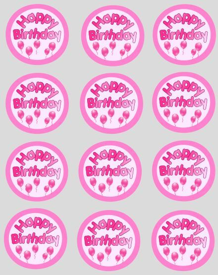 Happy Birthday Cupcake Topper ~ Happy birthday cupcake toppers wall g wallpaper pinterest