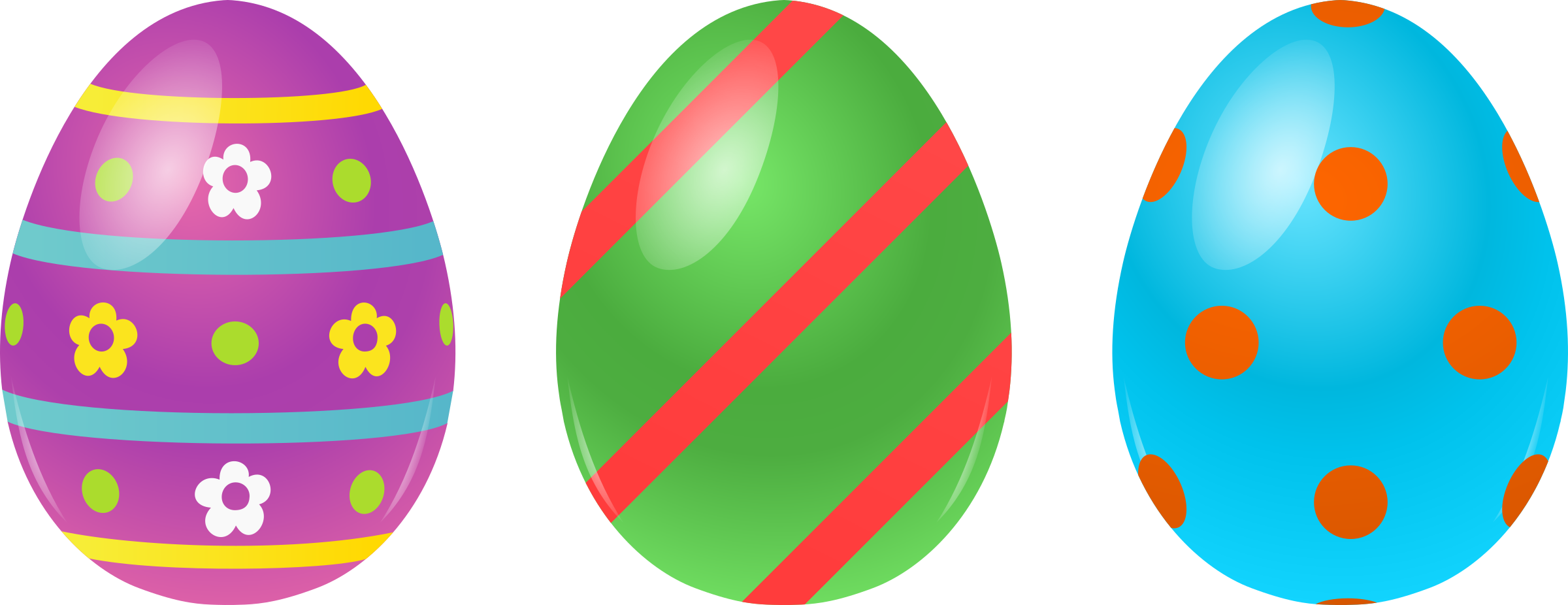 3 Easter Eggs by @cyberscooty, 3 differents decorated eggs , on @openclipart   Easter egg cartoon, Easter eggs, Happy easter card