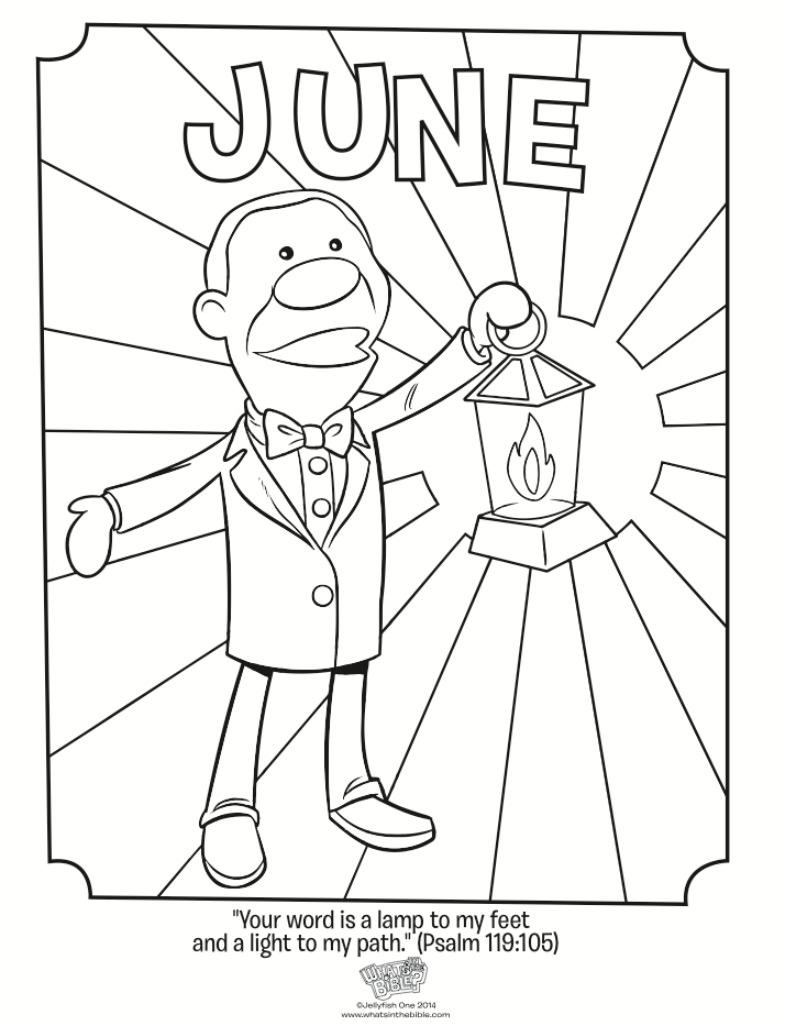 June Coloring Page Psalm 119 105 Whats In The Bible Psalm 119 Cartoon Coloring Pages Psalms