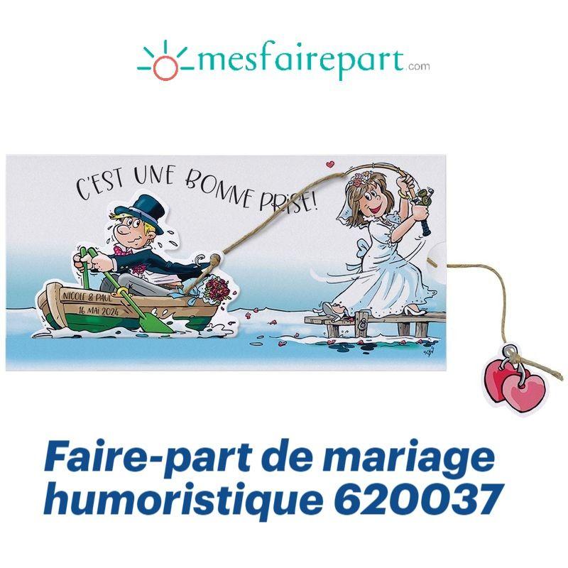 Faire Part De Mariage Original Humoristique Coulissant Sur Papier