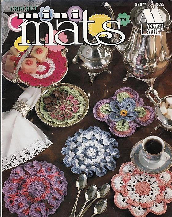 Mini Mats To Crochet Pattern Book Annies Attic 8b077 Dainty