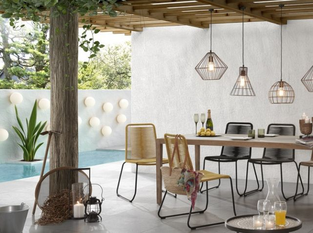 Idée de #déco pour le #bord de votre #piscine ! #terrasse #cosy ...