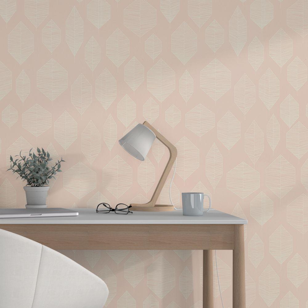 Papier Peint Intisse Siara Coloris Rose Poudre En 2020 Papier