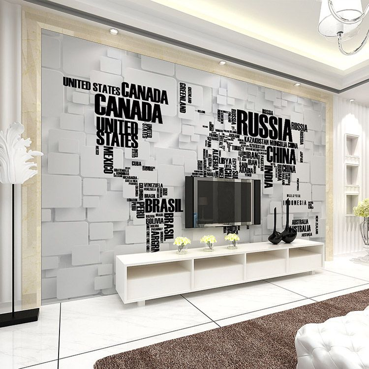 Fashion D Wallpaper World Map Photo Wallpaper Wall Mural Kids - World map wallpaper for walls india
