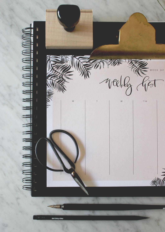 Weekly Calendar Printable | Planner life | Weekly calendar