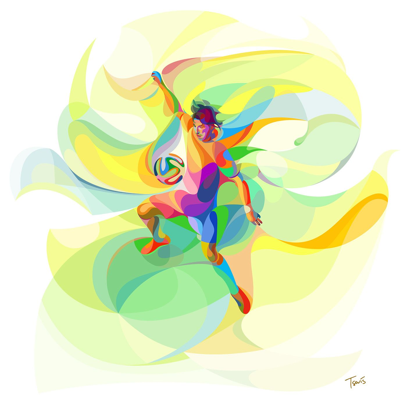 Futuristic And Colorful Digital Art Works By Charis Tsevis Sport