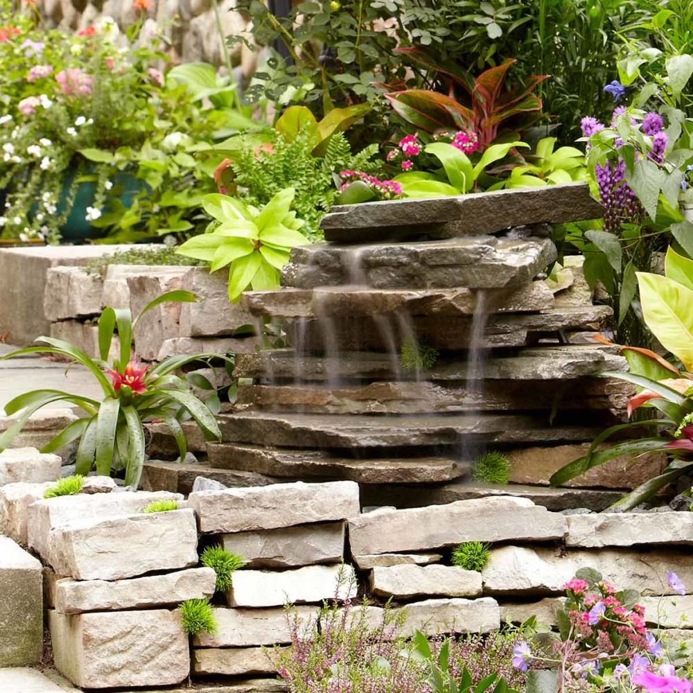 Backyard Waterfall #familyhandymanstuff