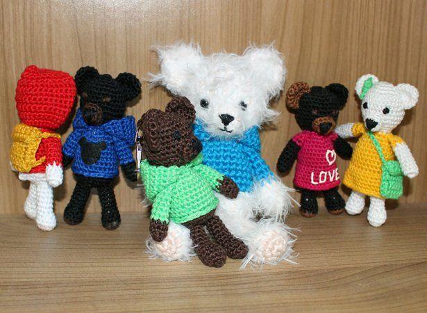 Häkelanleitung: Freche Teddybärenbande | Crazypatterns ...