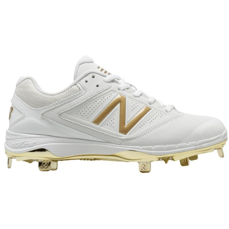 cd544d618f90 New Balance Men's 4040 V1 Gold Metal Baseball Cleats, Size: 9.0, Gold/White