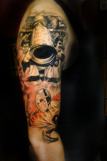 Philadelphia flyers stanley cup tattoo by jason goldberg for Philly sports tattoo