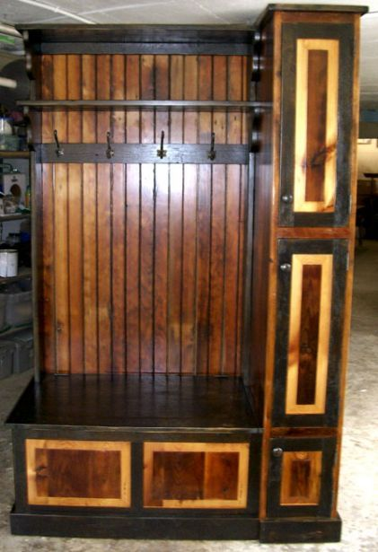 Hall Tree Entry Bench Barnwood Furniture Furniture