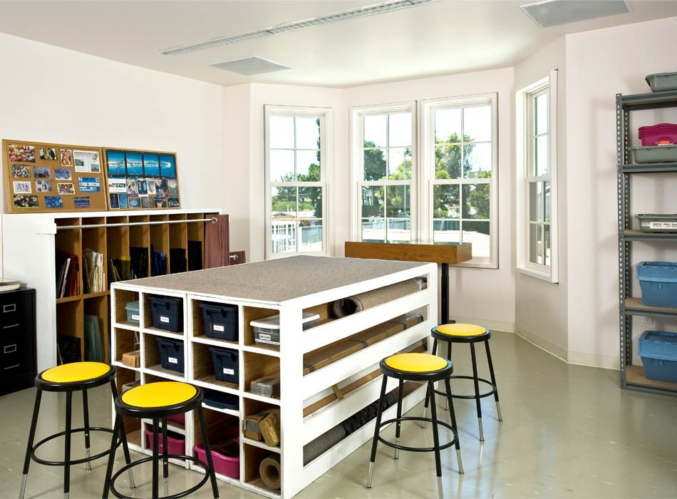 art classrooms designs | art classroom site plan first floor plan second  floor plan stools,