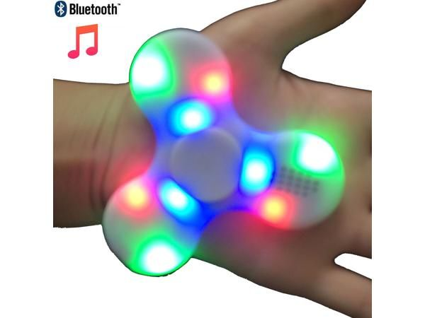 2 pcs Bluetooth Speaker LED Tri Fidget Hand Spinner Stress Anxiety Reducer EDC Focus Decompress toys