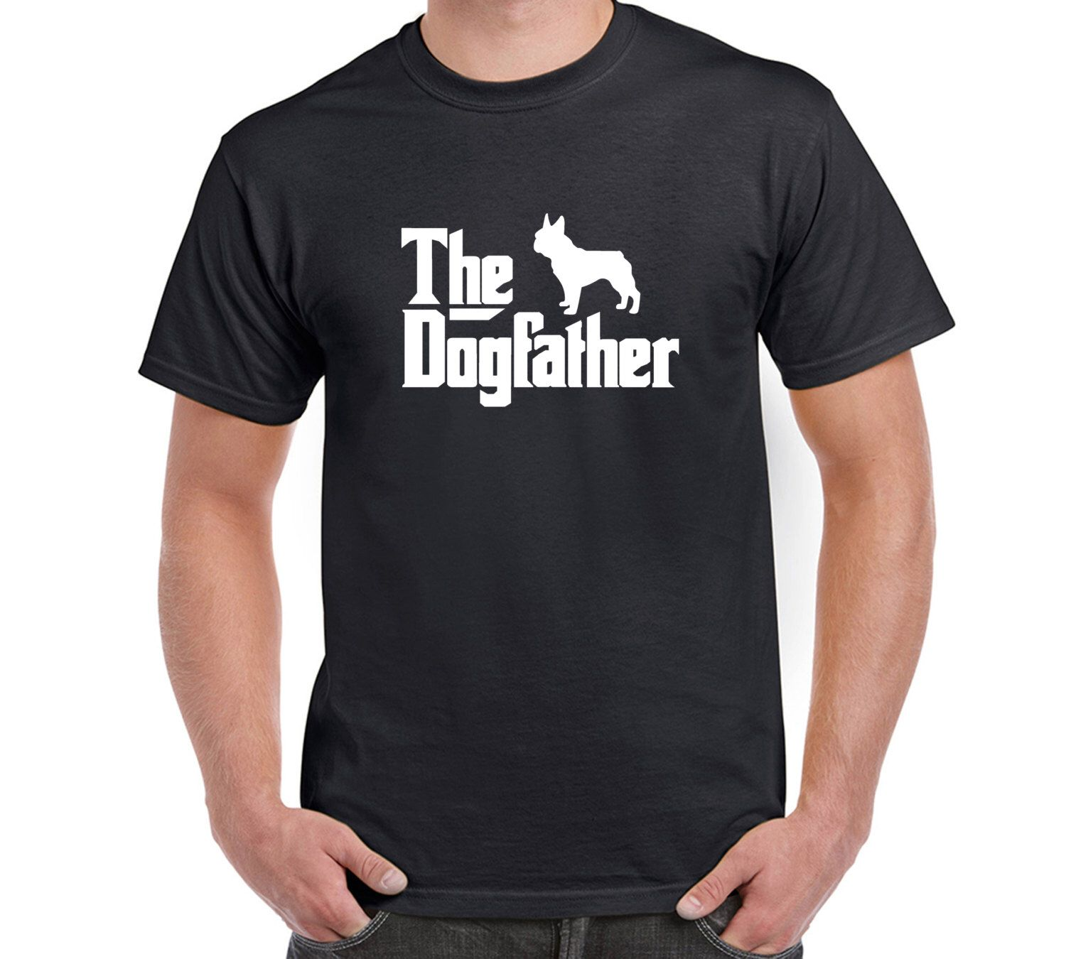 Design your own eco-friendly t-shirt - The Dogfather French Bulldog T Shirt Tee Dog The Godfather Doberman