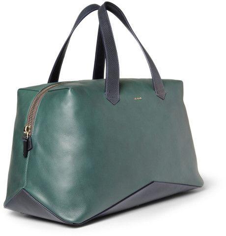 nueva llegada 715c4 78051 Paul Smith Leather Holdall Bag in Green for Men | Bolsos ...