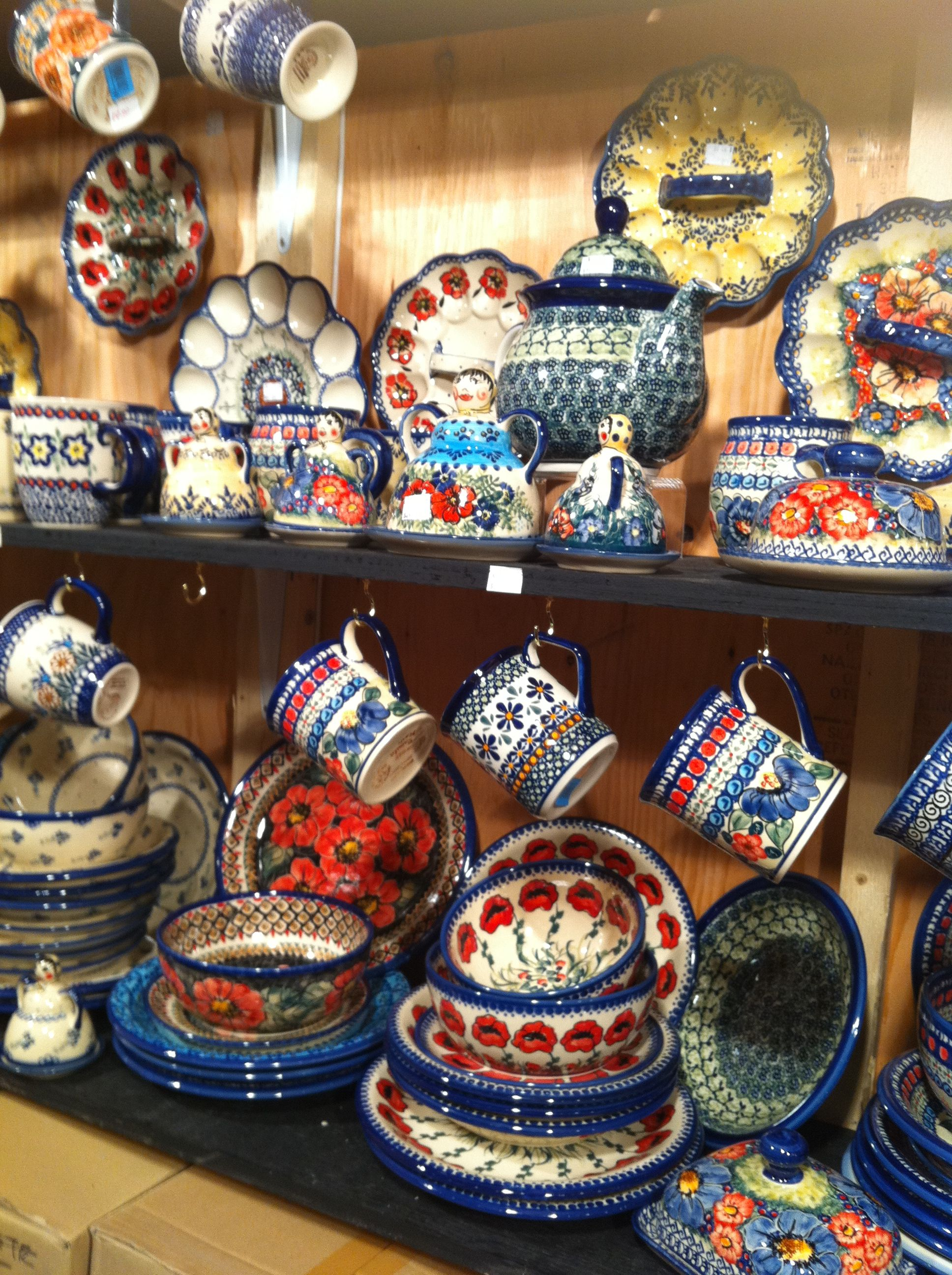 Part of our display of Polish pottery at Vancouver