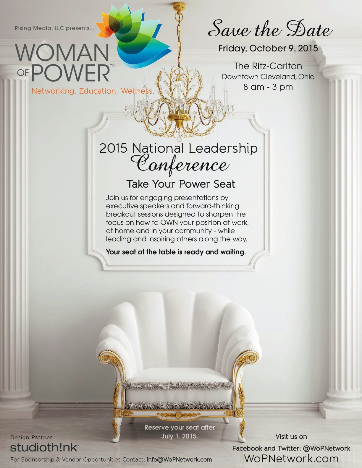 Save the Date! 2015 Woman of Power Conference- Cleveland, Ohio. See you there!